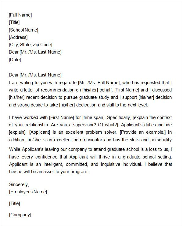 Samples-Letter-of--Recommendation-for-Graduate-School-from-A - best of 9 personal statement letter