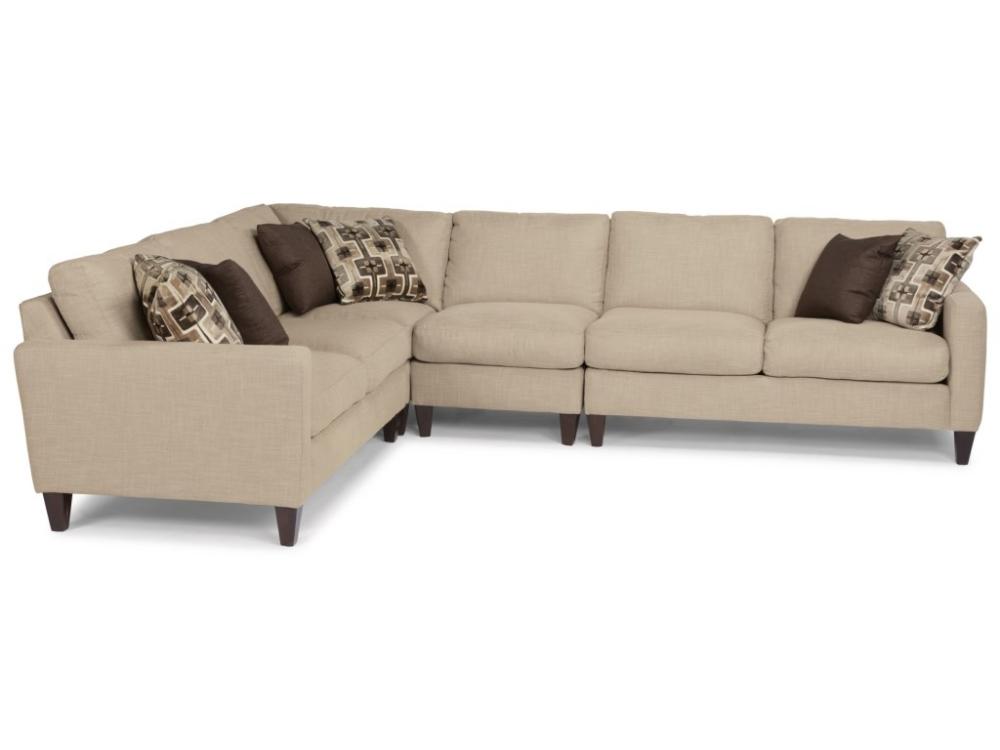 Flexsteel River Contemporary 4 Piece Sectional Wayside Furniture