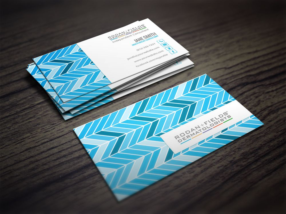 Rodan fields business card in chevron blue rodanfields rodan fields business card in chevron blue accmission Image collections