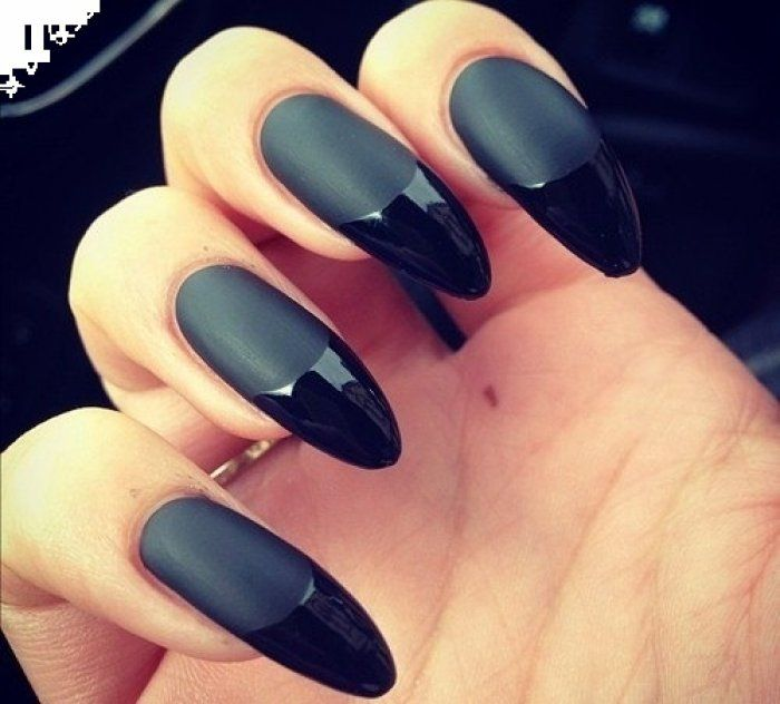 matte black claws! | nailz did. | Pinterest | Matte black, Nails ...