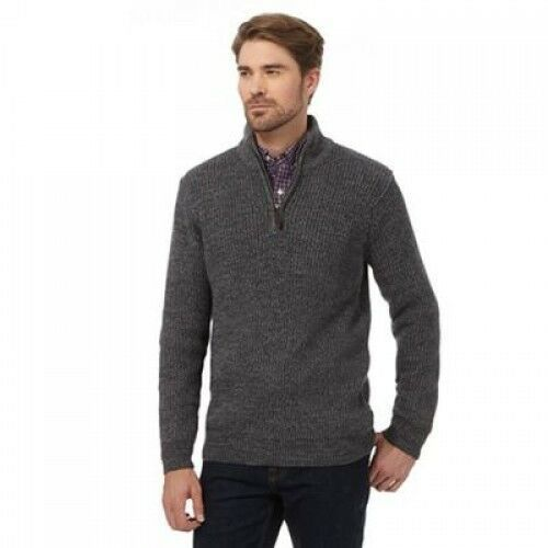 (eBay link) Maine New England Grey Chunky Knit Jumper Small TD181 HH 01 #fashion #clothing #shoes #accessories #mensclothing #sweaters #chunkyknitjumper