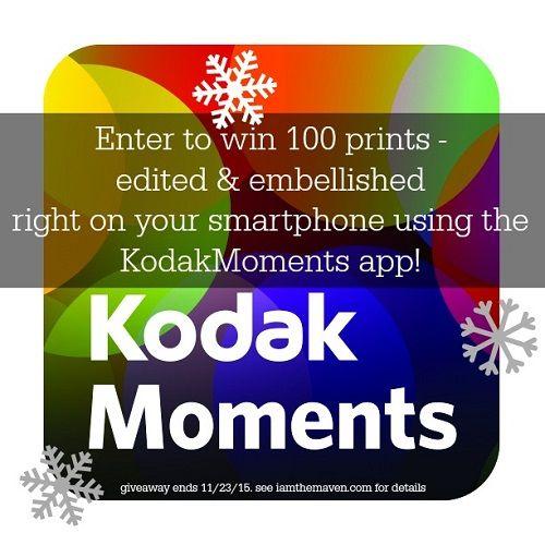 Kodak Moments App 100 Prints | Giveaway Graveyard | Free