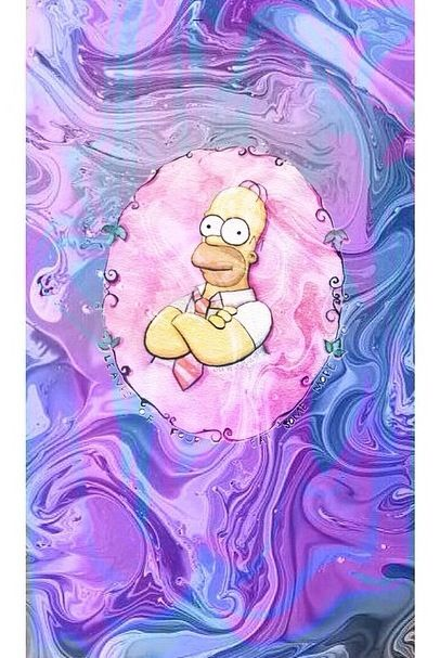 Pastel Homer Simpson wallpaper background iPhone