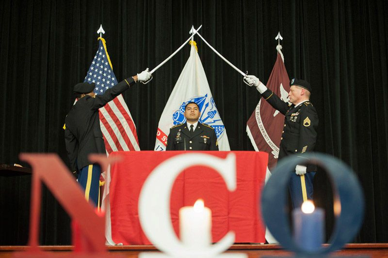 News Troop Command South Inducts New Ncos Standing At Attention Holiday Decor Christmas Ornaments