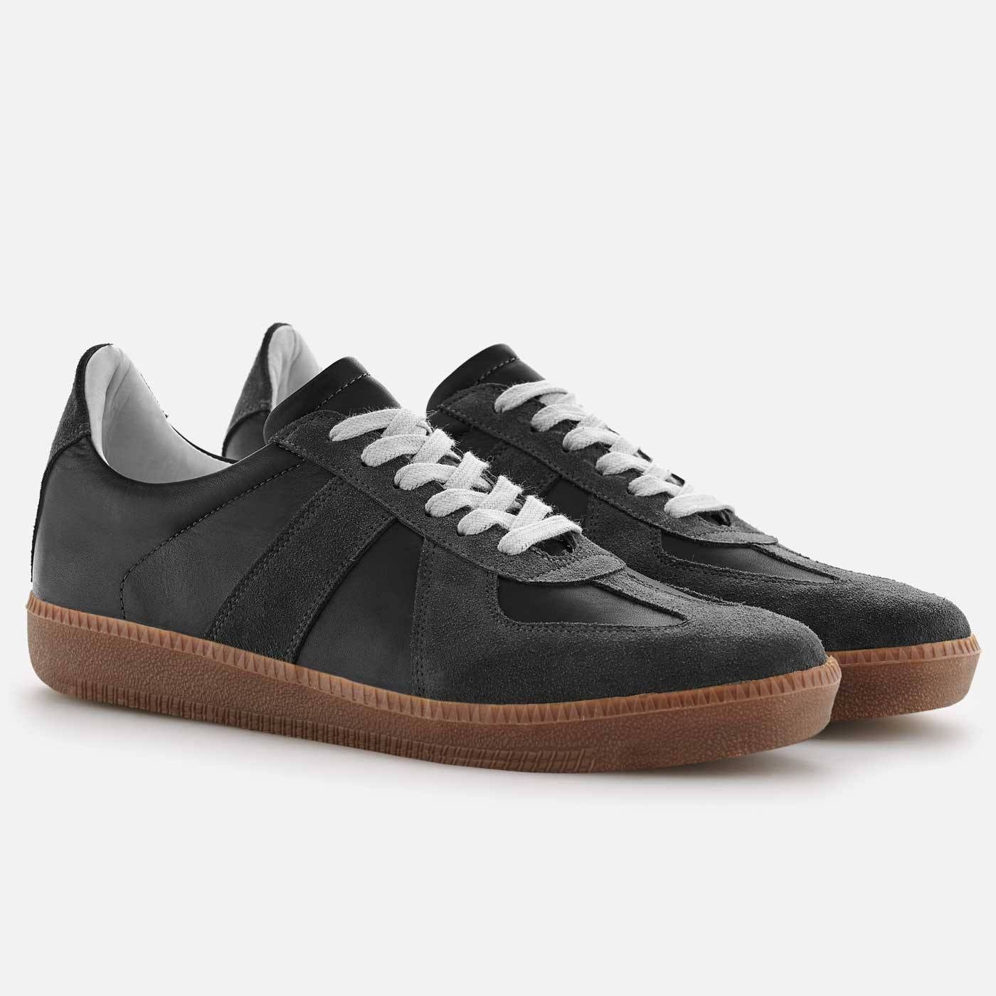 trainer Full grain Leather Black Leather