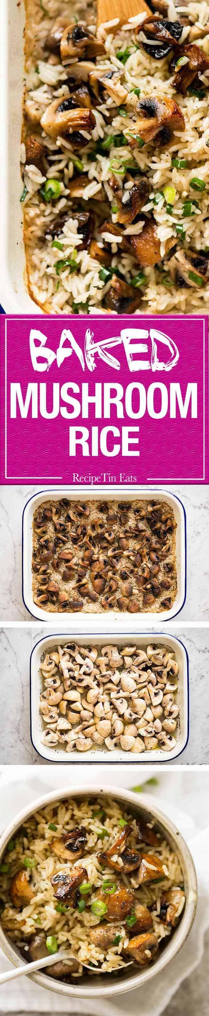 Baked Mushroom Rice #kochenundbacken