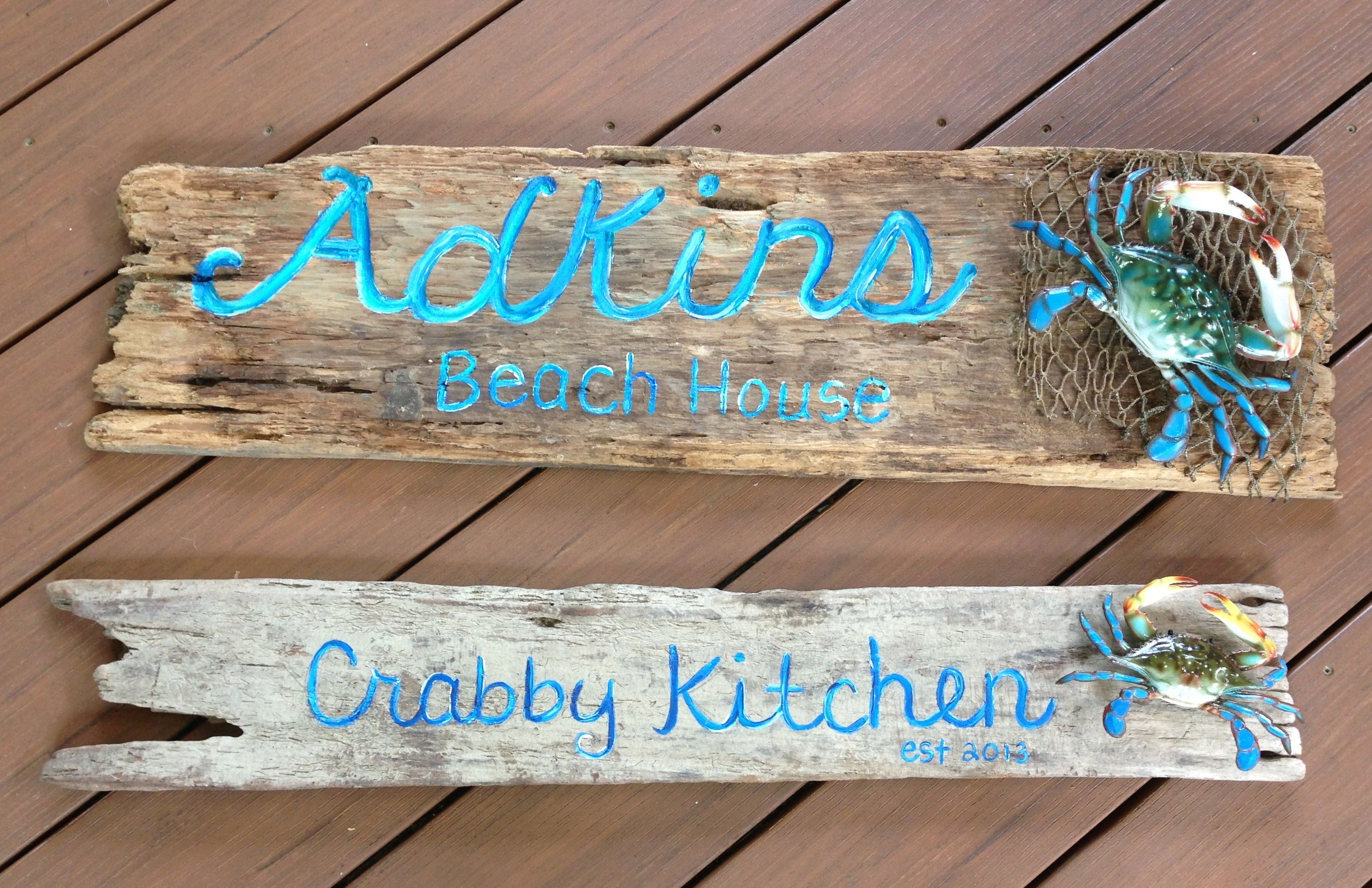 River Advice Crab Sign Metal Sign River Life Home Decor River Sign