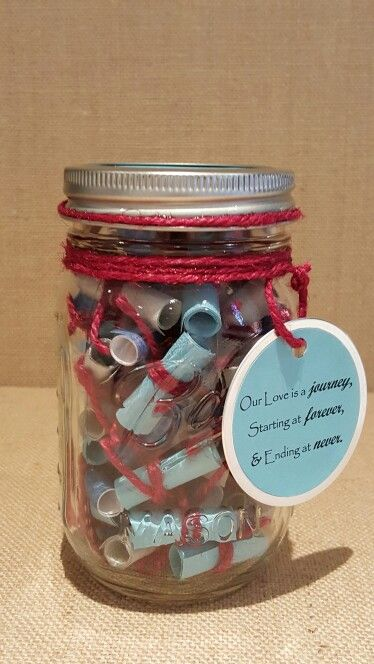 Anniversary Gift For Him Mason Jar Gifts Anniversary Gifts For Him Gifts