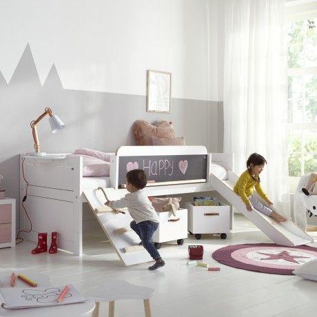 Alfredu0026compagnie Vous Présente Le Lit Toboggan Rose U0026Timothée 90x200. Ce Lit  Enfant à Stucture En Pin Scandinave, Solidement Construit, ...