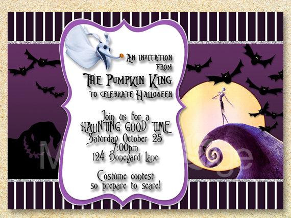 Jack Skellington Baby Shower Invitation Nightmare Before Etsy Christmas Birthday Invitations Halloween Invitations Nightmare Before Christmas