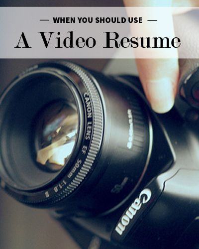 When Should You Use a Video Resume? Business, Resume help and - video resume example