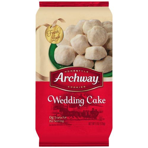 Archway Wedding Cake Cookies, 6 oz Wedding cake cookies