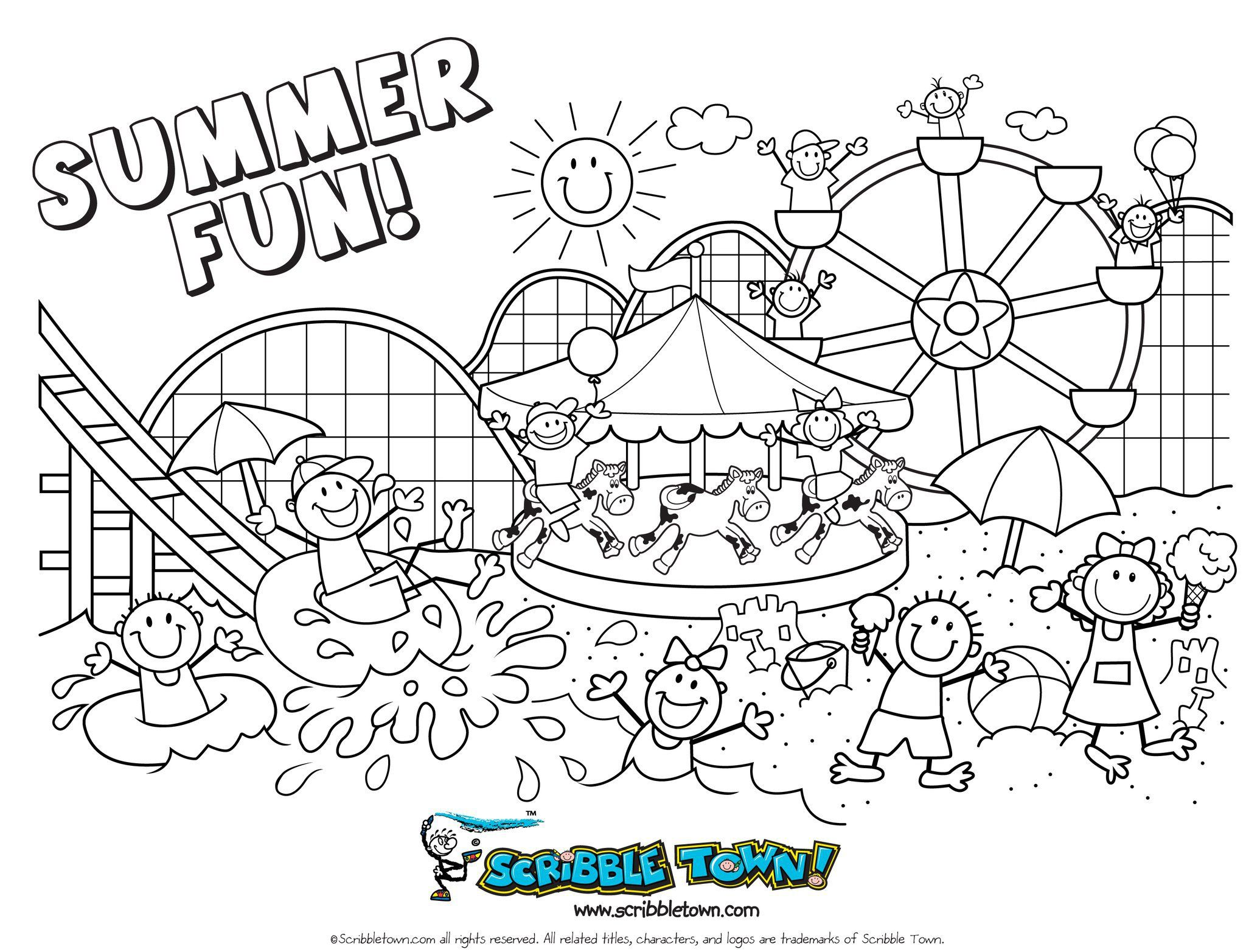 Free Summer Colouring Pages Printable Colouring Sheets Summer Fun Things To Do With Kids Summer Coloring Sheets Free Coloring Pages Free Kids Coloring Pages