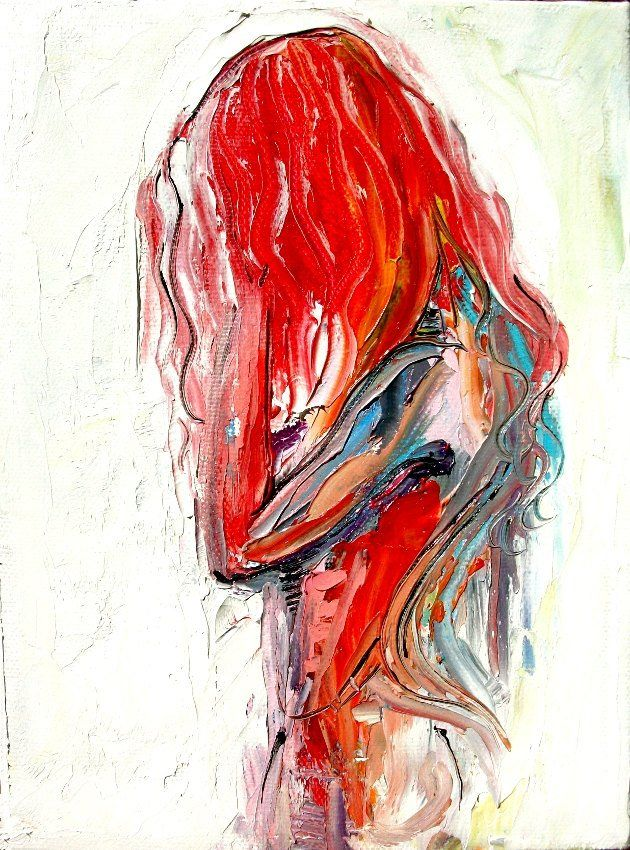 Abstract Nude impression art coloré par Aja Femme 320 – 9×12 et 18×24 pouces choisir votre taille