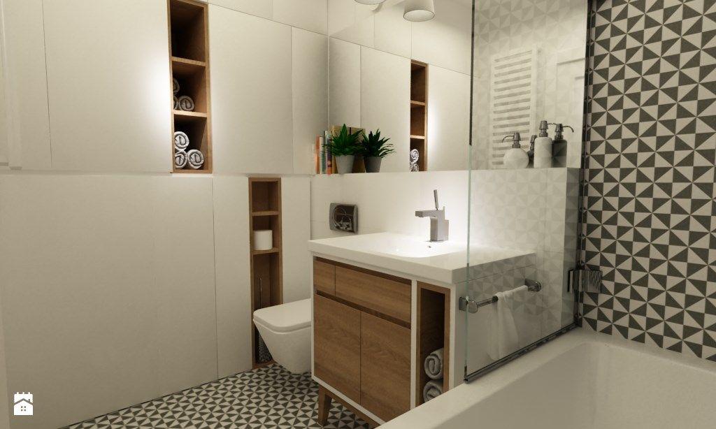 Łazienka styl Skandynawski zdjęcie od Grafika i Projekt