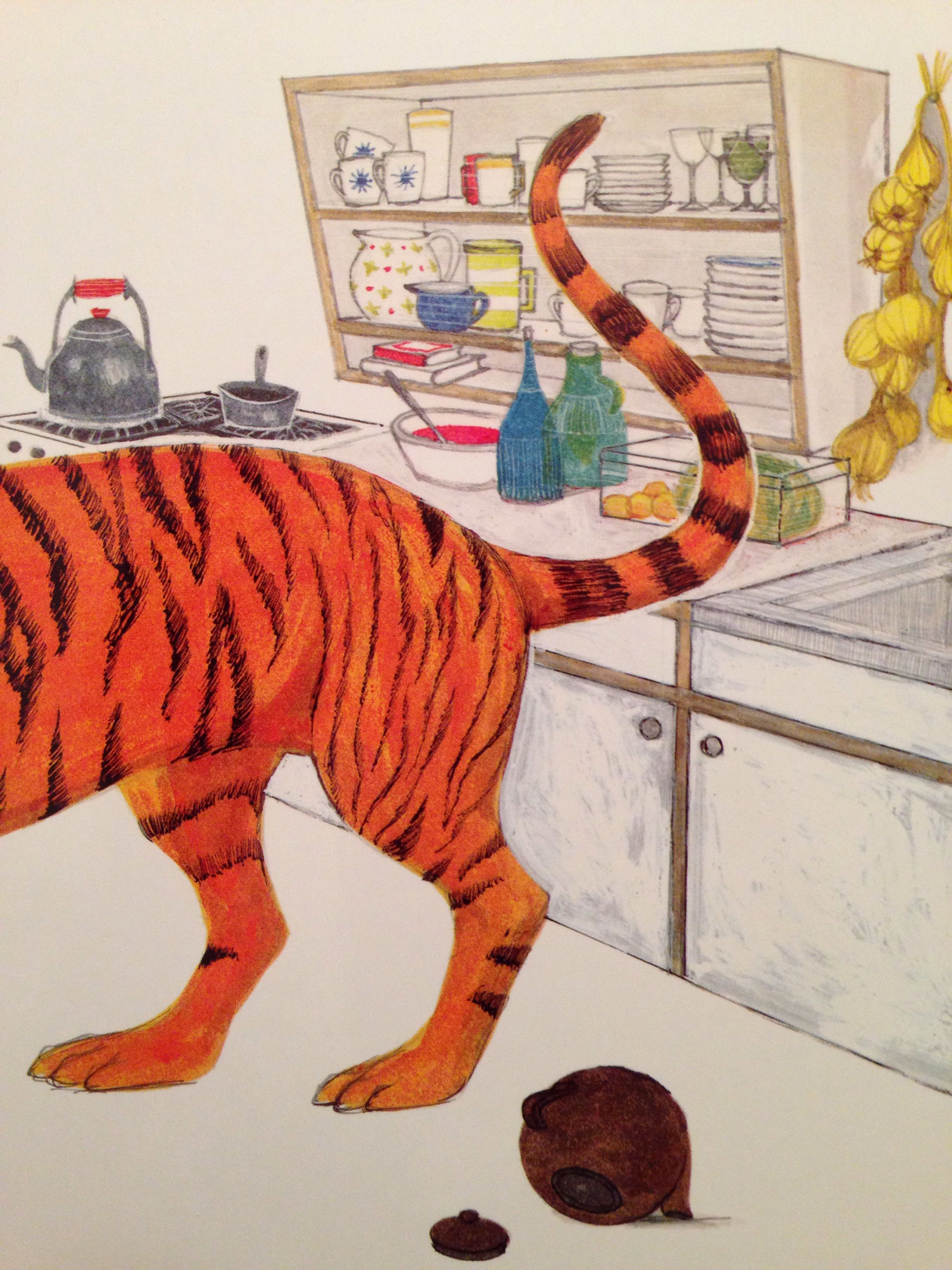 The Tiger Who Came To Tea By Judith Kerr Book Illustration Children S Book Illustration Illustrators