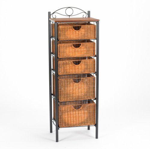 Sei Iron Wicker Five Drawer Unit Sei Http Www Amazon Com Dp B000x09xge Ref Cm Sw R Pi Dp Ftfltb1mk3017 Narrow Storage Cabinet Drawer Storage Unit Drawer Unit