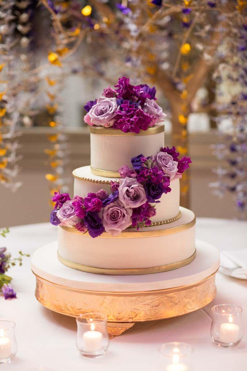 Wedding At Wyndham Grand Bonnet Creek Purple Wedding Cakes 50th
