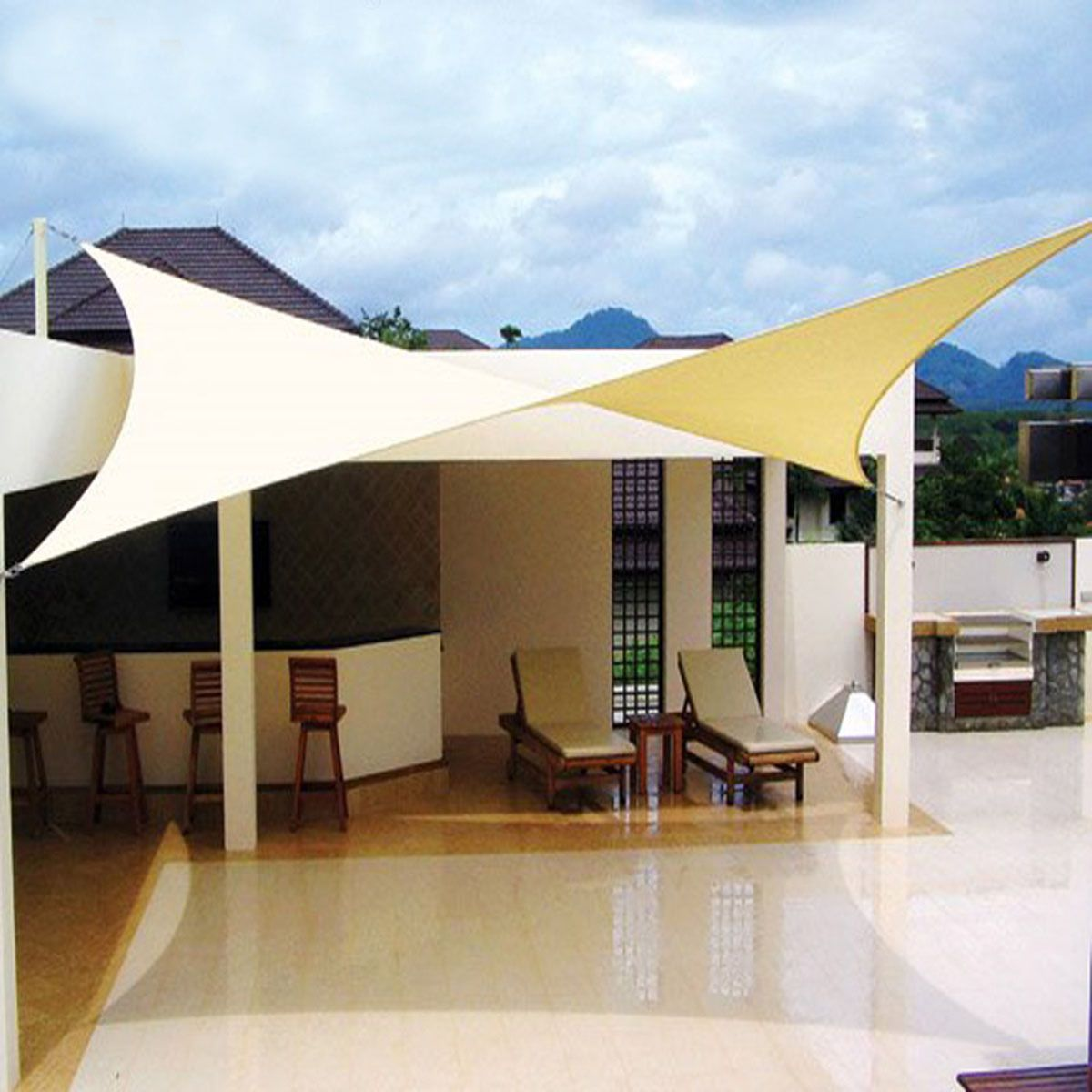 9.8u0027x13u0027 Rectangle Sun Shade Sail UV Top Cover Outdoor Canopy Patio ...