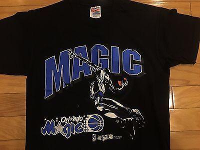 5adf4c78a9c Orlando Magic Team Hanes t shirt 90s vintage shaq penny starter M rare  please retweet