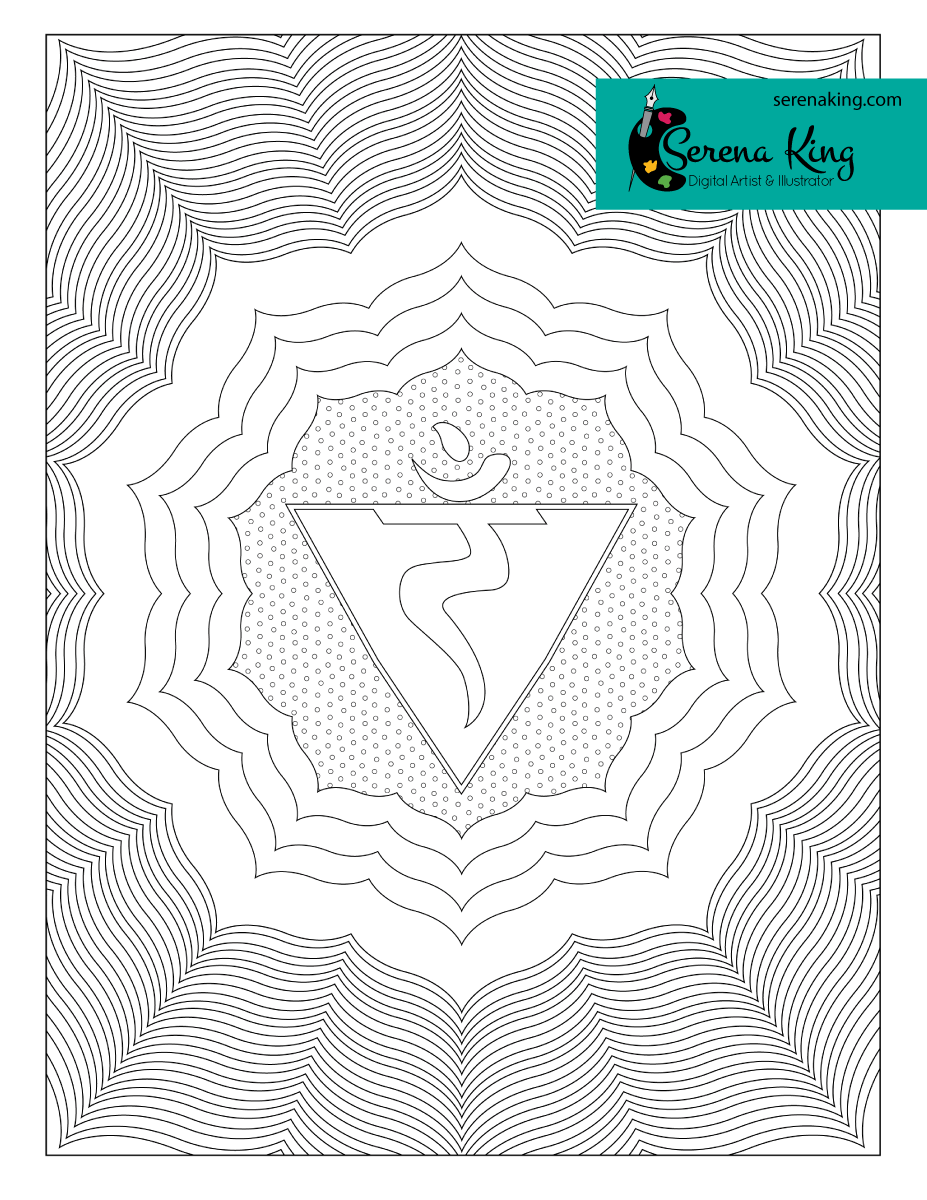 Solar Plexus Chakra Coloring Page | ADULT COLORING BOOK - ART ...