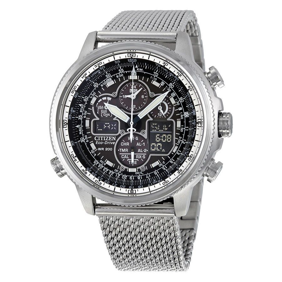 Citizen Navihawk UTC Eco-Drive Chronograph Mens Watch JY8030-83E 13205107481 | eBay