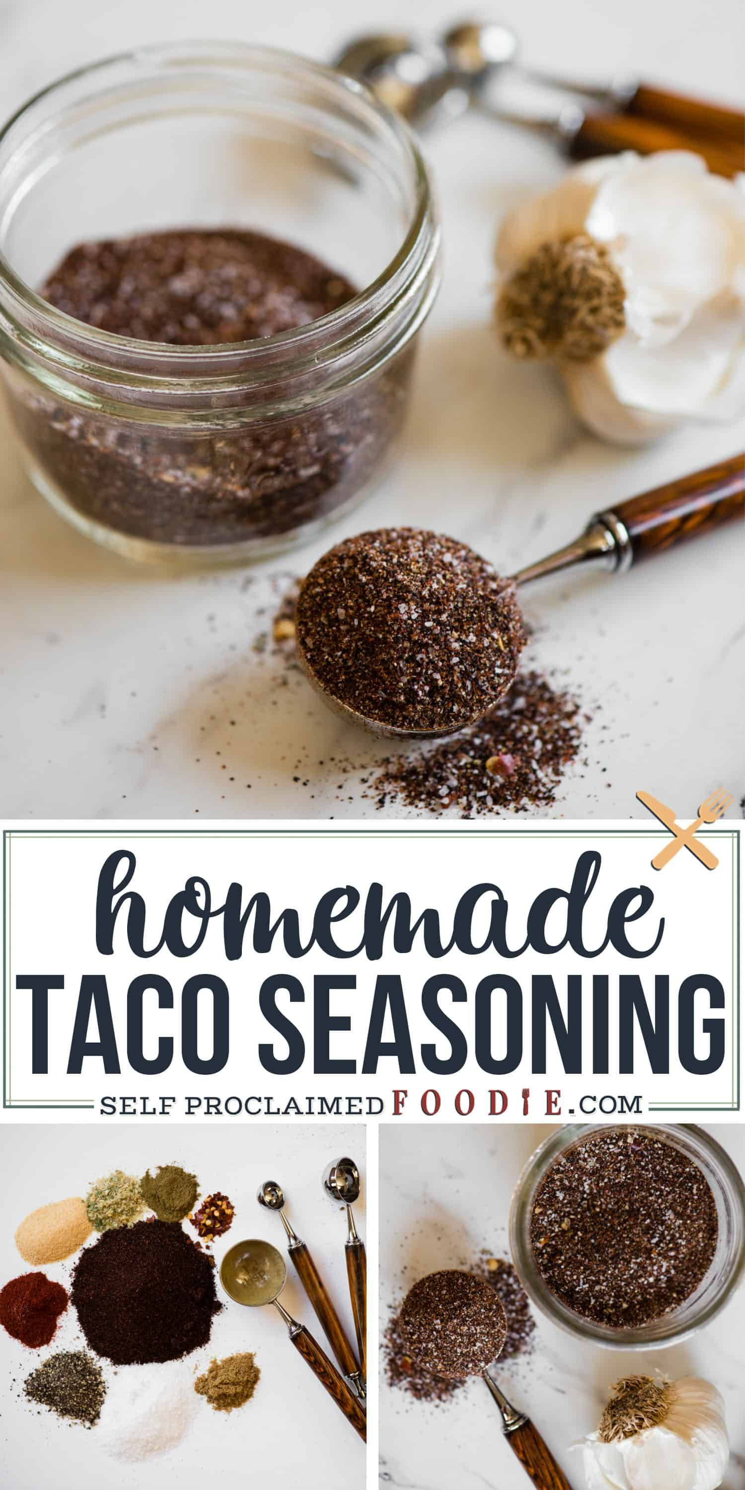 Homemade Taco Seasoning is so easy to make with ingredients you probably already have in your pantry! Once you make your own taco seasoning you'll love it! #diytacoseasoning