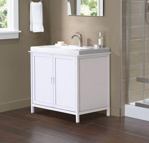 Elegant Home Fashions Mia Sink Base Cabinet Bathroom Kitchen Living Room Storage Floor 2