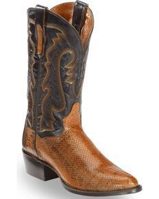 Dan Post Men's Two Tone Eel Cowboy Boots - Square Toe#boots #cowboy #dan #eel #mens #post #square #toe #tone