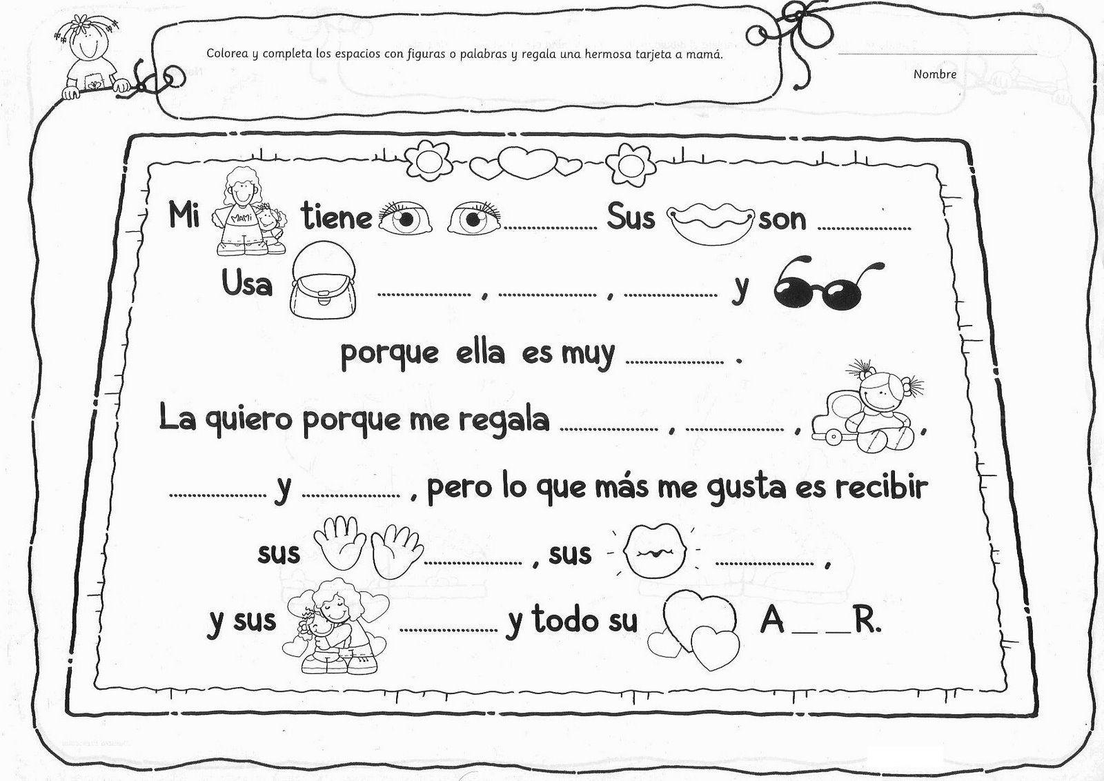 Actividad Dia De La Madre Con Imagenes Tarjetas Del Dia De Las