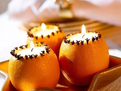 Hollowed out oranges with candles & cloves! - Hollowed Out Oranges With Candles & Cloves! Crafts Christmas