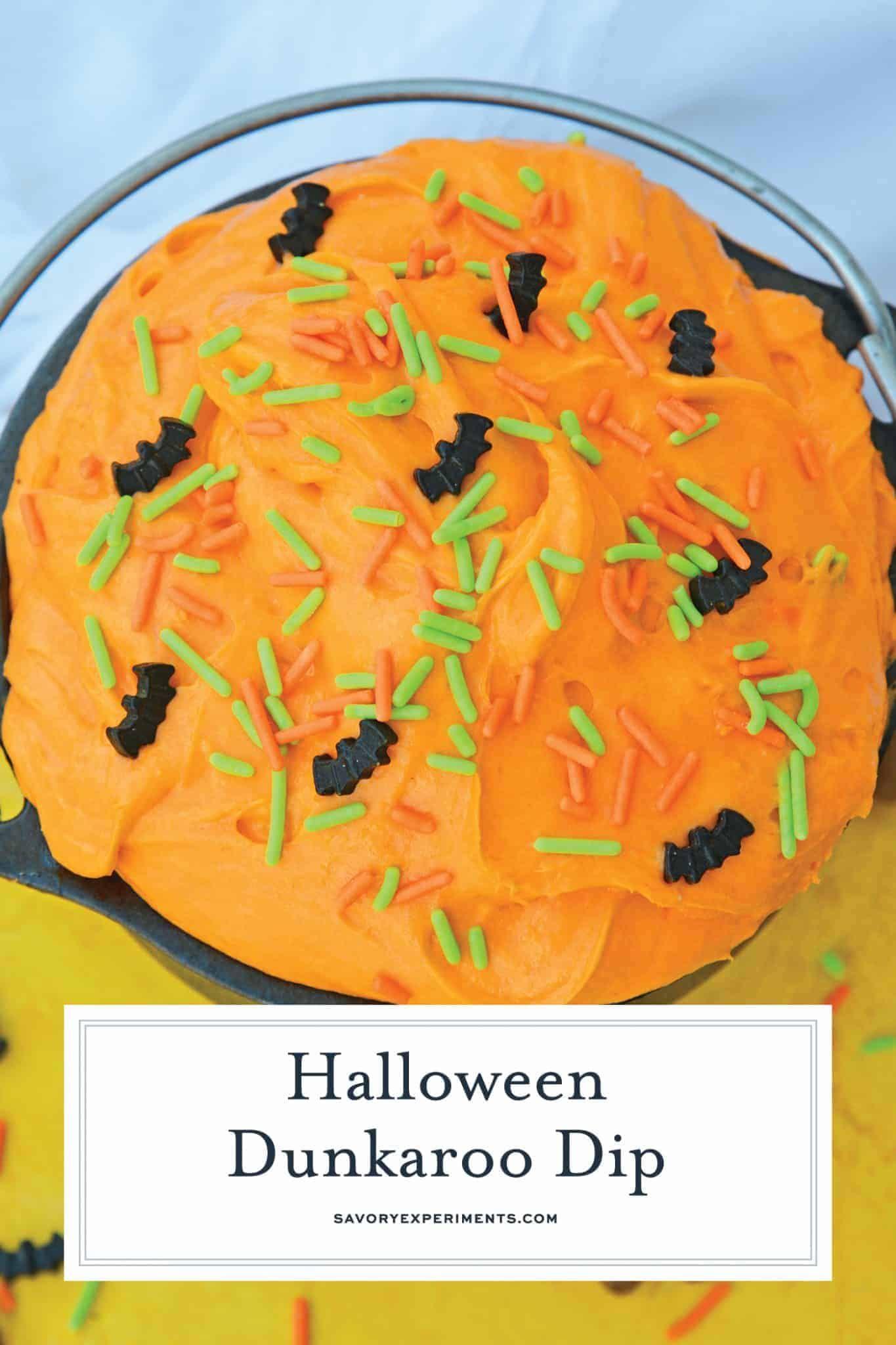 Halloween Dunkaroo Dip - Cake Batter Dip for Halloween