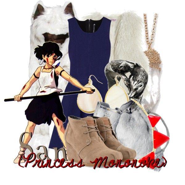 San From Princess Mononoke Casual Cosplay Cool Outfits