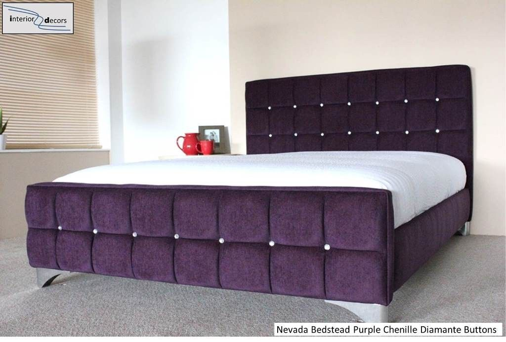 chenille purple king bed frame Google Search Or our room