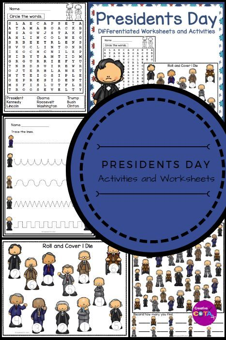Presidents Day Differentiated Worksheets And Activiites Ideas For