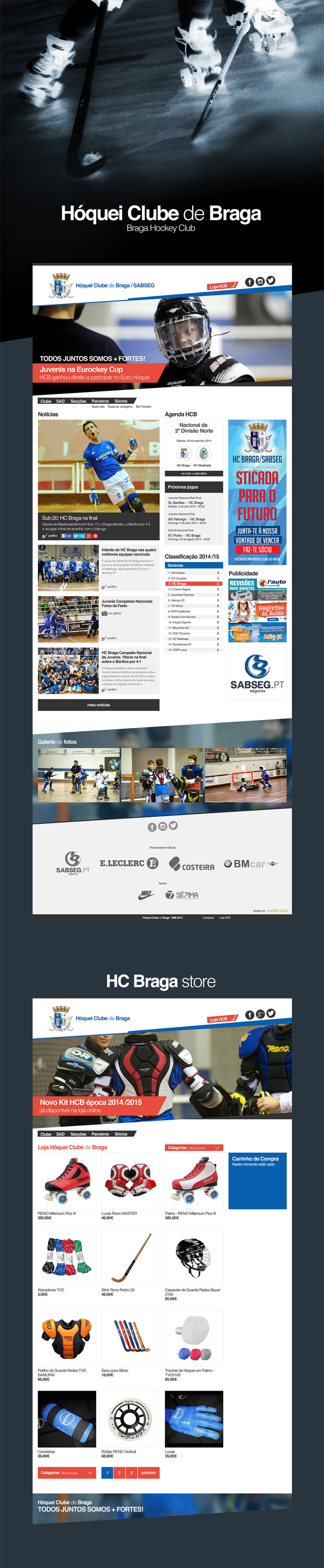 Website desenvolvido pela Sétima para o Hóquei Clube de Braga. - Website for the Braga Hockey Club developed by Sétima. http://www.hcbraga.pt/