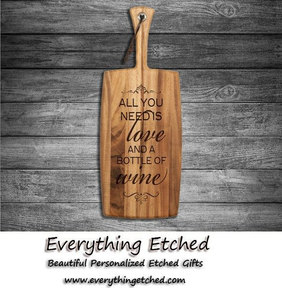 Personalised Engraved Cheese Chopping Board Birthday Christmas Gift for Couples