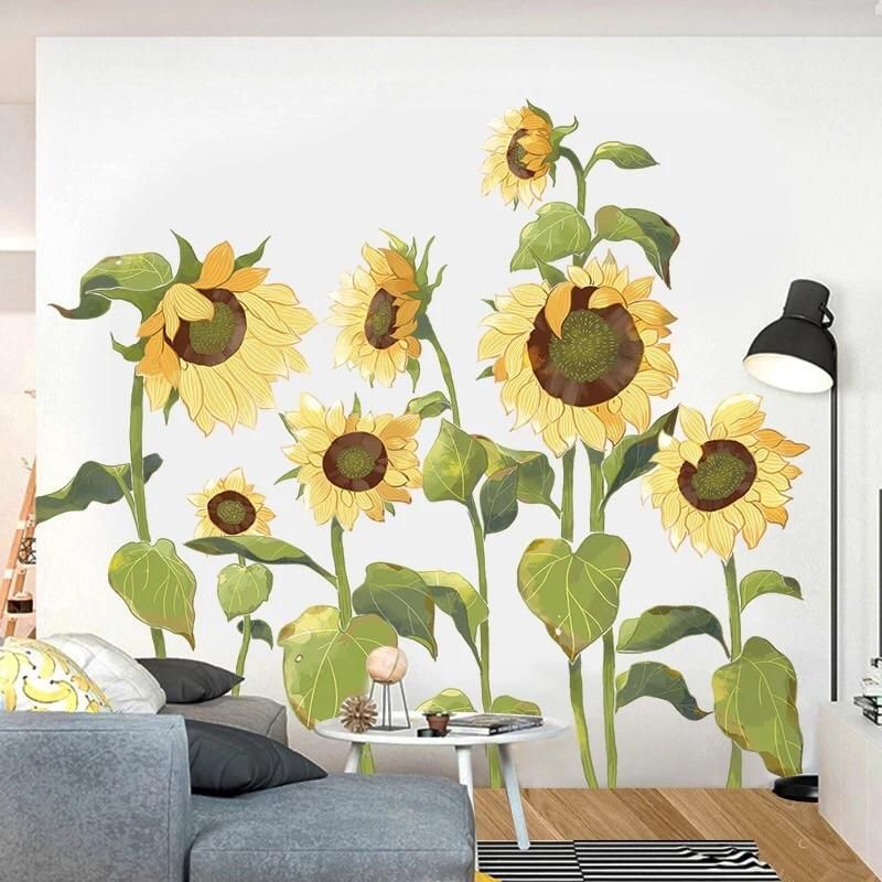 Sunflowers Wall Decals In 2020 Sunflower Wall Decor Wall