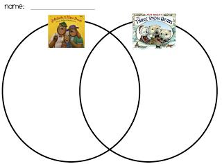 three snow    bears    and goldilocks    Venn      Winter      Bears    preschool     Bear     Text to text