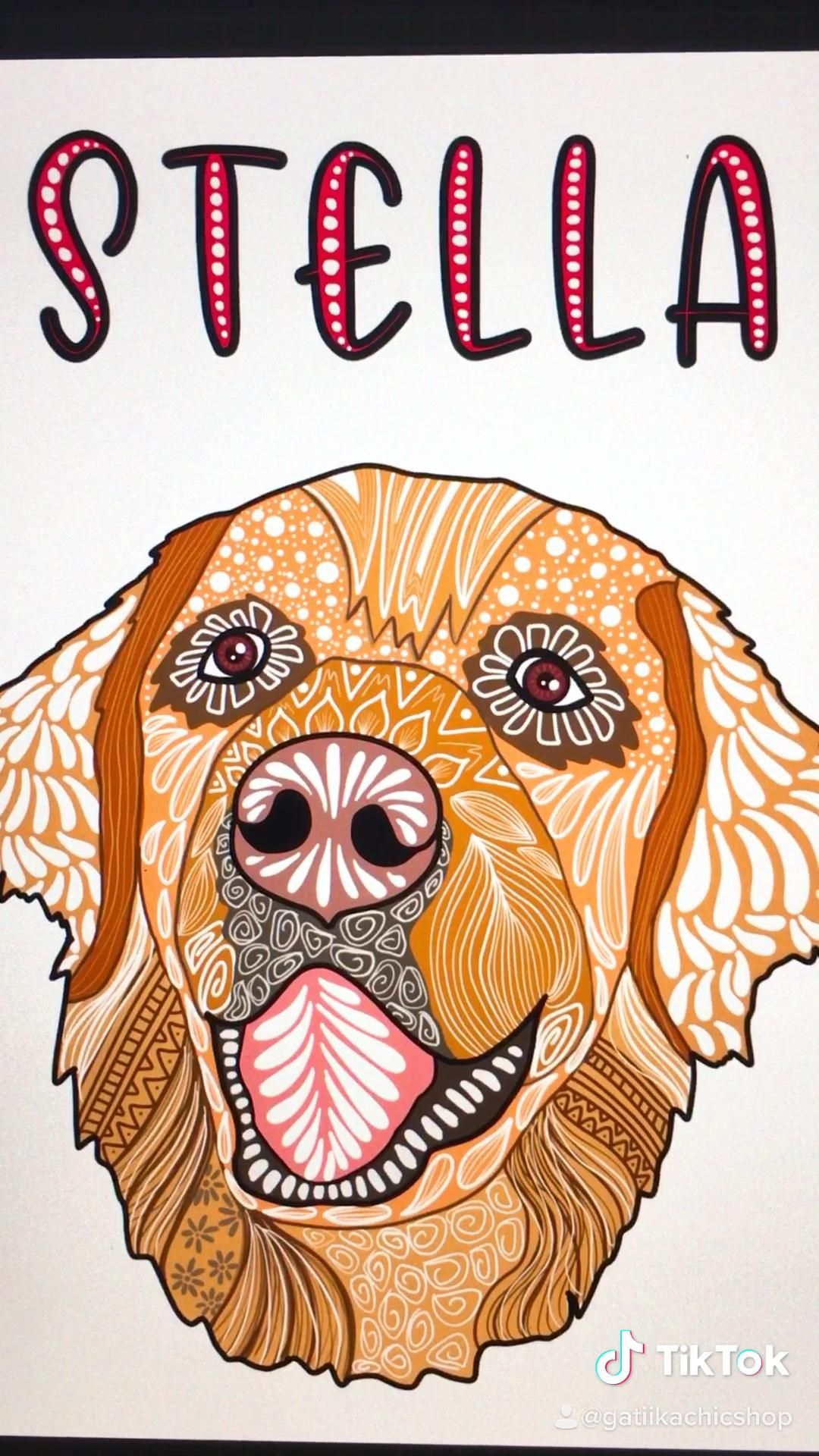 #custompetportrait #art #dogs #dogsofinstagram #tiktokart