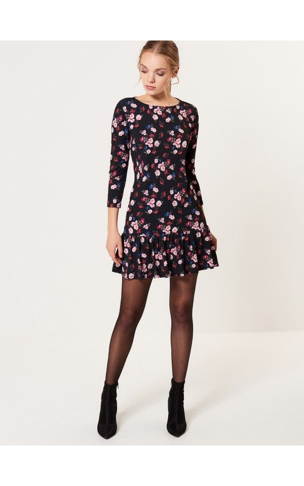 aa697cc19ef Floral dress with flounce