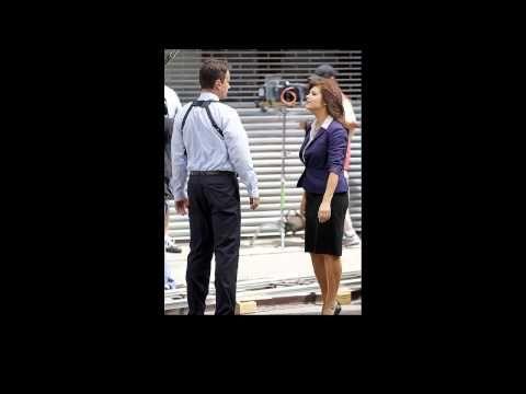 Tim DeKay and Tiffani Thiessen shooting on the set of White Collar in Manhattan New