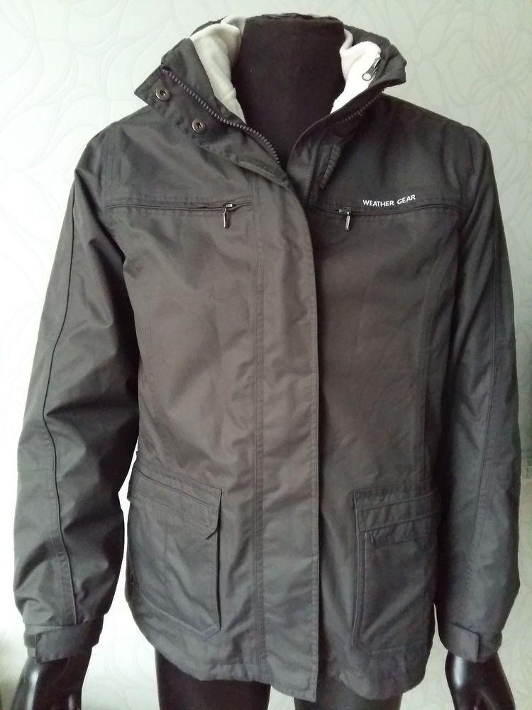 WEATHER GEAR 3 in 1 Hiking Ski Sport Windproof Jacket Coat