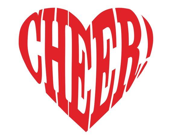 Cheerleader Svg Cheer Svg Cheer Heart Cheerleading Silhouette