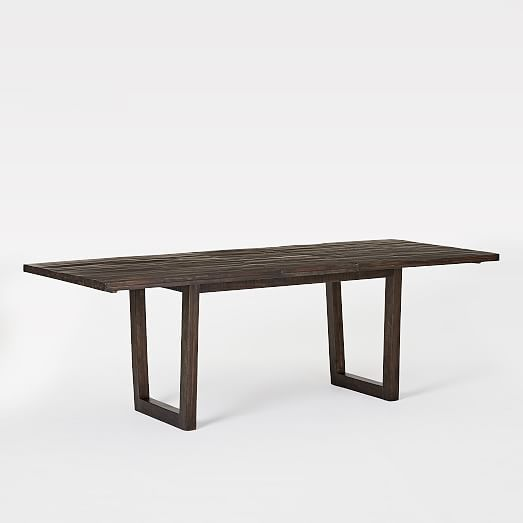Logan Industrial Expandable Dining Table Smoked Brown With