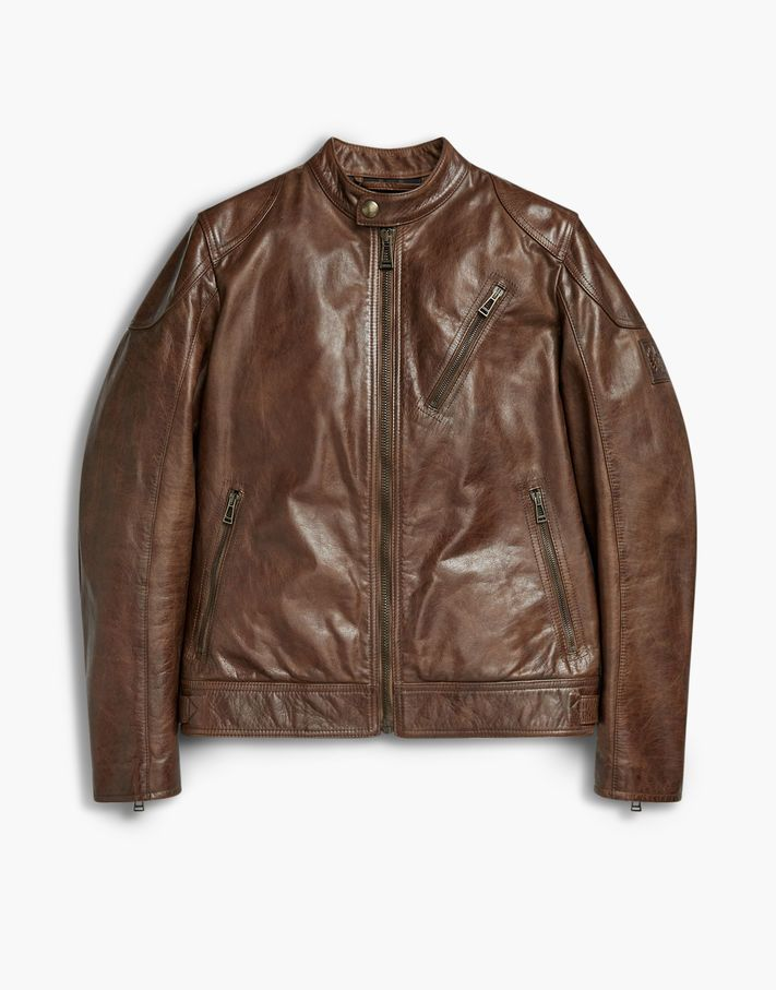 56792f55dd ... jacket produced in signature hand waxed leather with reinforcements to  the elbow and shoulder. Shop the Maxford 2.0 blouson jacket from Belstaff  US.