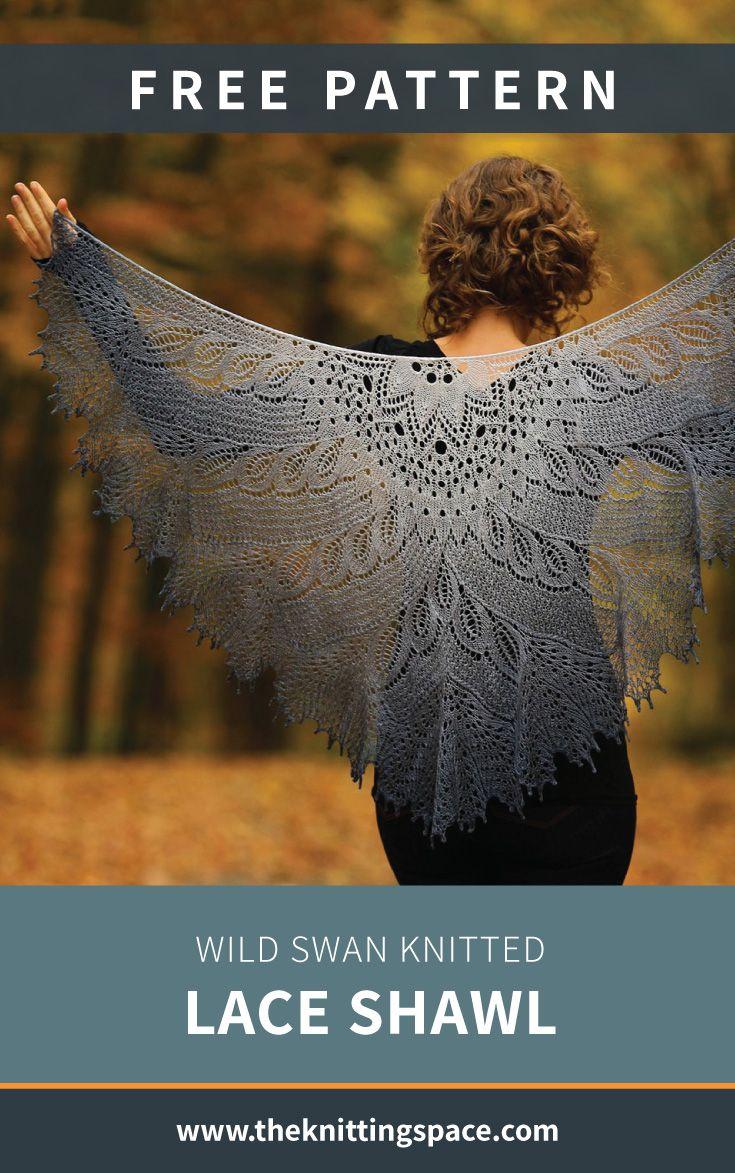 Wild Swan Knitted Lace Shawl [FREE Knitting Pattern]