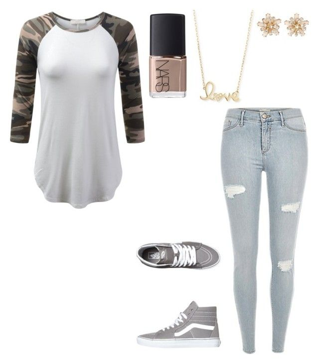 """""""Untitled #974"""" by sweet-brownsuga ❤ liked on Polyvore featuring NARS Cosmetics, Vans and Sydney Evan"""