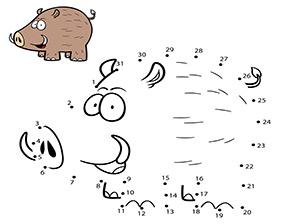Malen Nach Zahlen Zahlenbild Wildschwein In 2020 Malen Nach Zahlen Malen Nach Zahlen Kinder Wildschwein