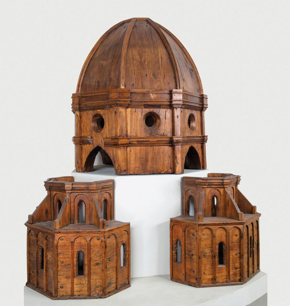 Brunelleschi's Wooden Model for the Dome of Florence Cathedral (Antonio Quattrone photo).